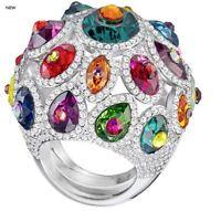 NIB $349 Swarovski Luminous Fairy Ring Statement Size 50-52 (XS-S/5-6) #5412359