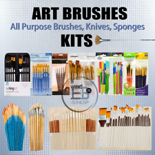 Paint Brushes For Watercolor / Oil / Acrylic Painting lot Artist Quality Set Art