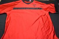 Chicago Bulls Red Black V-Neck Pro Edge XL Men's Shirt
