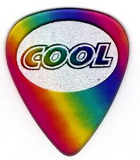 6 (SIX) COOL PICKS 0.50mm Rainbow Sand Grip Guitar Picks Standard