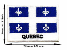 Quebec Flag Nation Football Sport Size L Logo Applique Iron on Patch Sew