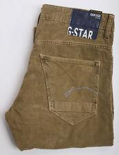 Señores g-Star Raw morris low straight concentradones Cord-jeans Braun-talla 33x34 w33 l34