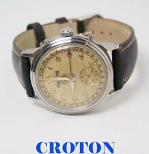 Vintage CROTON Mens Triple Calendar Hourmatic Watch 1950s * SERVICED