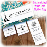 """120pcs 1.2×2"""" Personalized Craft Business Handmade Sew In Clothing Garment Label"""