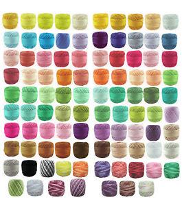 15 x 40m Circulo RUBI Perle #8 Crochet Cotton Embroidery Thread message me codes