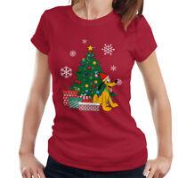 Pluto Around The Christmas Tree Women's T-Shirt