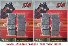 676HS - 2 CP Pastiglie Freno Anteriori SBS Sinter per MV Agusta Brutale 750 Oro