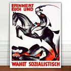 "War Propaganda Poster Art ~ CANVAS PRINT 24x18"" Crush Socialism"