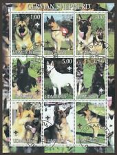 GERMAN SHEPHERD **Int'l Dog Postage Stamp Art Collection ** Great Gift Idea **
