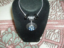 Mlb Ny Yankees;New Fashion Snake Chain Bracelet Complete Real Cut Glass Beads