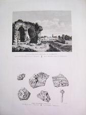 Tarragona.Monumento sepulcral.Grabado original. Laborde 1806-20