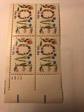 1982 20 cent Love Flowers, Block Of 4, Scott #1951