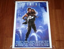 REPRODUCTION MOVIE POSTER ALIENS 1986 UNFOLDED ONE SHEET RE-ISSUE SIGOURNEY