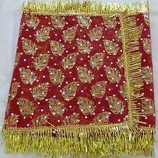 Mata ki chunni orhni Duppatta red net chunri for pooja Set of 3