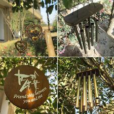 Amazing Antique Bronze 8 Tubes Bells Wind Chimes Yard Garden Outdoor Decor YF