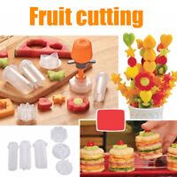 1set Fruit Vegetable Cutters Set Slicer Food Decorator Kitchen Tool 6 Shape Mold