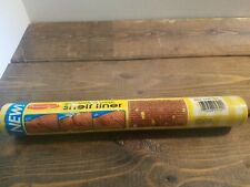 """Vintage 80's RubberMaid YELLOW 10' x 12"""" Shelf Liner 5342 Yellow Gingham  NEW"""