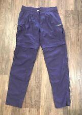 Womens ExOfficio 10/12 Long Nylon Trail Convertible Pants Shorts Navy Blue