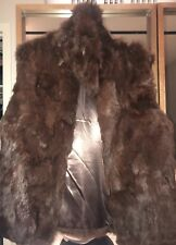 Bloomingdales Surell Brown Rabbit Fur Vest Size S/M