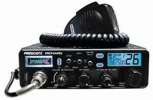 President Richard 10 Meter Amateur Ham Radio Transceiver AM/FM/PA 12v 7 Color