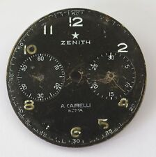 Rare dial chronograph Zenith A. CAIRELLI diameter 32.46 mm used