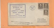 AERONAUTICAL SCOLORSHIP AWARD AMERICAN LEGION BURBANK CA 1932  VINTAGE COVER =