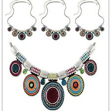 Boho Gypsy Pendant Chain Bib Necklace Jewelry Ethnic Choker Chunky Statement Hot