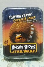 Collectible Star Wars Angry Birds Playing Cards 3D Chewbacca Metal Tin Fun Gift