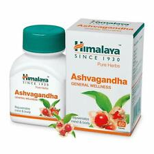 HIMALAYA Ashwagandha Pure Herbs General Wellness Tablets - 60 Count 100% GENUINE