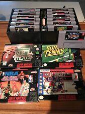 Snes Super Nintendo Game Lot Of 15 Games With Nintendo Game Organizer NR