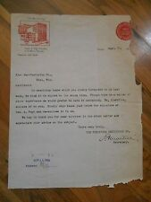 Antique 1903 Furniture Exhibition Building Chicago to Kiel Mfg Wisconsin Letter