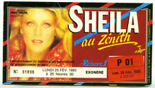 SHEILA zénith 1985 invitation