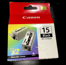 Canon BCI-15 Black InkCartridge Twin Pack Genuine New Sealed Box, 8190A003[AA]