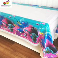 TROLLS Plastic Tablecloth Birthday Party Supplies. AU STOCK FAST POSTAGE!