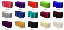 12 packs  60 x 126 Inch seamless SATIN Tablecloths Hotel Boot 25 COLORS USA SALE