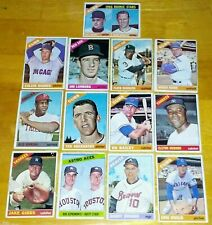 13 VINTAGE BASEBALL CARDS! 1966 TOPPS! Rookie Stars Chicago Cubs +