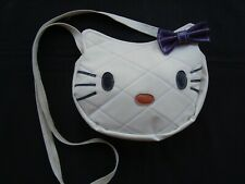 HELLO KITTY Purse White Leather With PURPLE Bow For Girls & Ladies Brand NEW