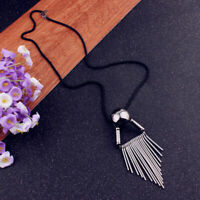 New Women Long Chain Costume Jewelry Tassel Pendant Sweater Necklace