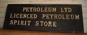 Petroleum wooden sign decor mancave old wood vintage petrol garage enamel