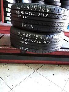 - gomme pneumatici  usati 205 65 15 primewell M+S estivi   2unità euro 58,00