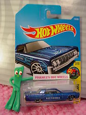 '64 LINCOLN CONTINENTAL #110✰Blue; oh5; W✰HW Art Cars✰2017 i Hot Wheels Case E/F