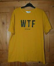 Ladies Yellow WTF  Cotton MANGO T Shirt Size Medium (12)