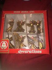 Vintage Golden Musical Angel Choir Band Christmas Decoration w/ Box