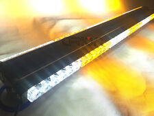 DOUBLE SIDE 216W LED WORK LIGHT BAR TOW TRUCK WARNING STROBE AMBER&WHITE 35""