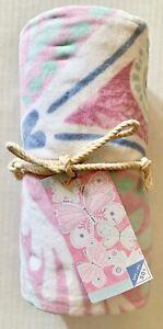 "Pottery Barn Kids Lucy BUTTERFLY Beach Towel 32"" x 64"" UPF 50+ BRAND NEW"