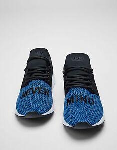 Zara Black Blue Slogan Sneakers Men's Trainers 10 UK 44.5 EU 11 US
