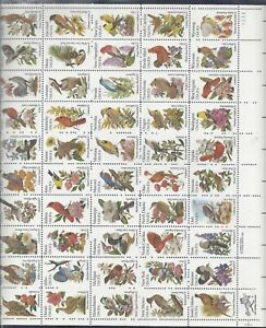 U.S.#2002Ac STATE BIRDS & FLOWERS  MINT, VF, NH   FULL SHEET