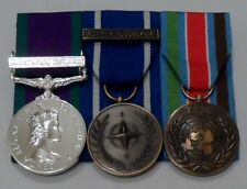 Court Mounted Full Size Medals, GSM Northern Ireland, IFOR Yugoslavia, UN Bosnia