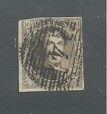 BELGIUM # 3a  ( Thick Paper ) Used KING LEOPOLD I