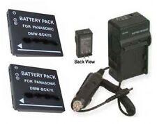 2 Batteries + Charger for Panasonic DMW-BCK7 DMW-BCK7PP DMCS3KKIT2012 DMCS3WKIT